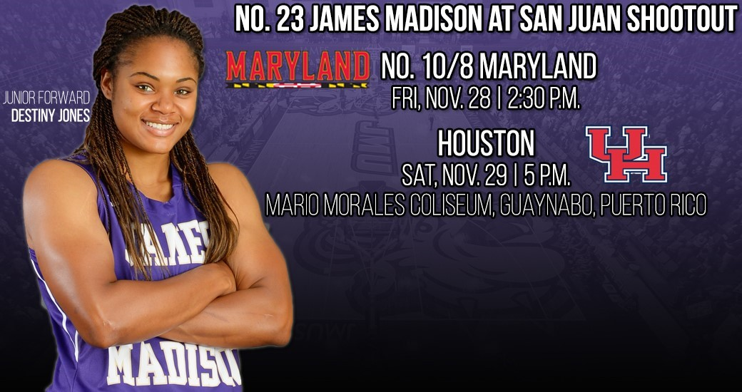 Women's Basketball: No. 23 JMU Competes at San Juan Shootout Nov. 29-30