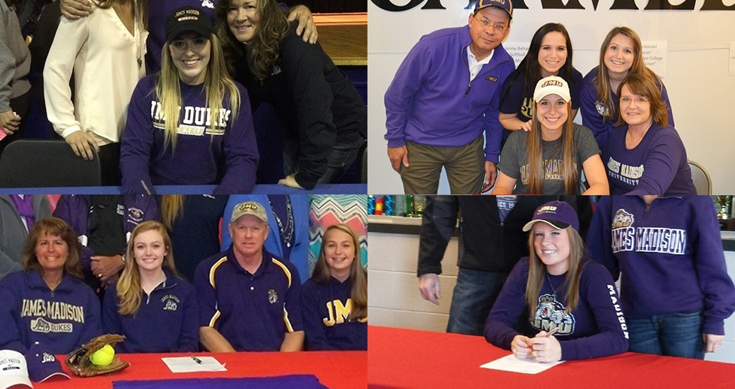 Softball: JMU Signs Five to National Letters of Intent for 2016