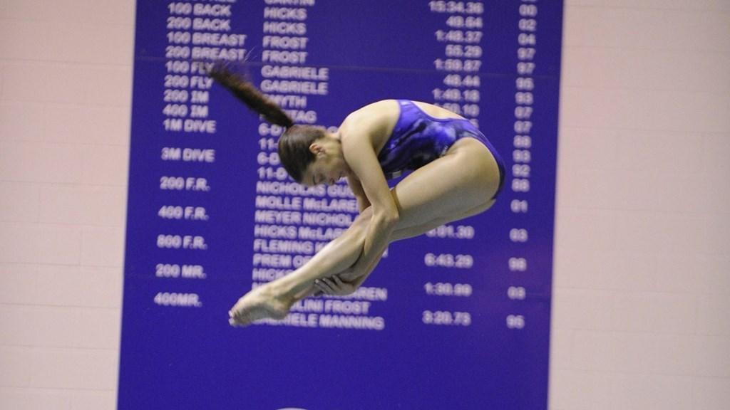 Women's Swimming and Diving: Dukes Sweep Huskies and New Hampshire At Northeastern Tri-Meet