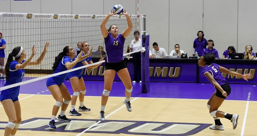 Women's Volleyball: JMU Tops Elon in Three Sets