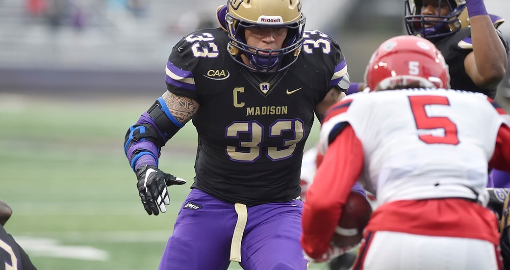 Football: JMU's Steele Tabbed CAA Defensive Player of the Week