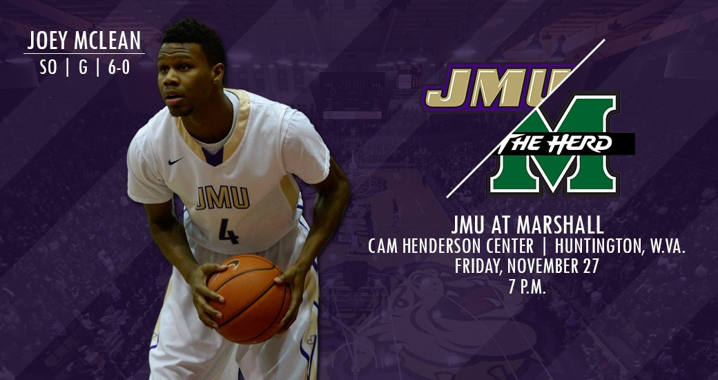 Men's Basketball: Dukes Kick off Final Non-Conference Road Trip at Marshall