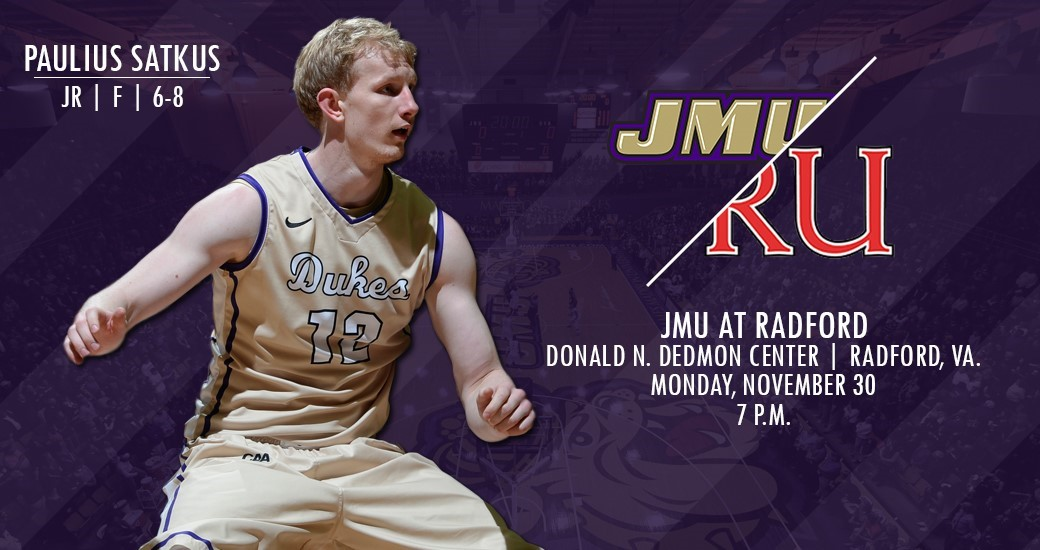Men's Basketball: Dukes Close Non-Conference Road Slate at Radford