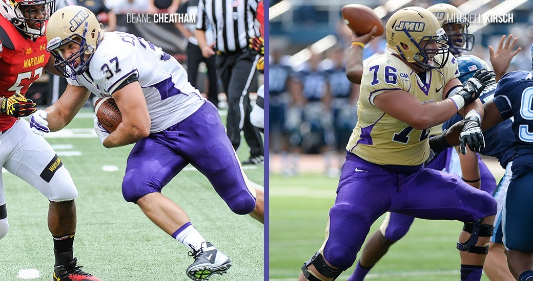 Football: JMU Picked Second in CAA, Cheatham and Kirsch Named Preseason All-CAA