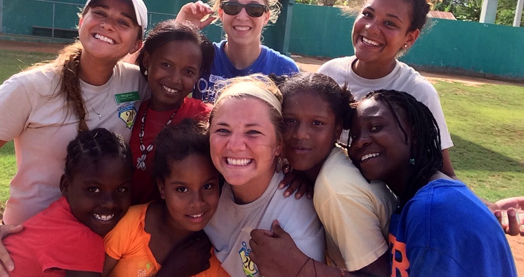 Softball, Community Relations: Mrozek Teaches Softball to Children in the Dominican Republic