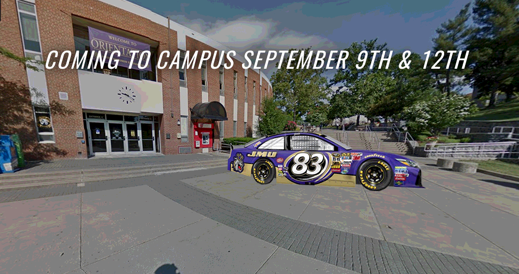 General: BK Racing to Bring Branded JMU NASCAR to Campus Sept. 9 & 12
