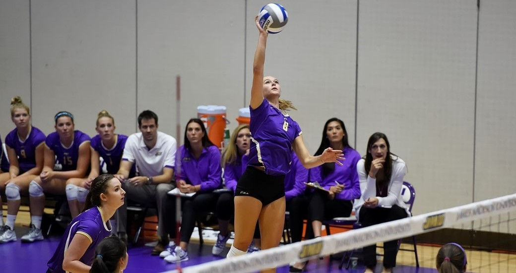 Women's Volleyball: Dukes Undefeated After Day One of Dog Pound Challenge