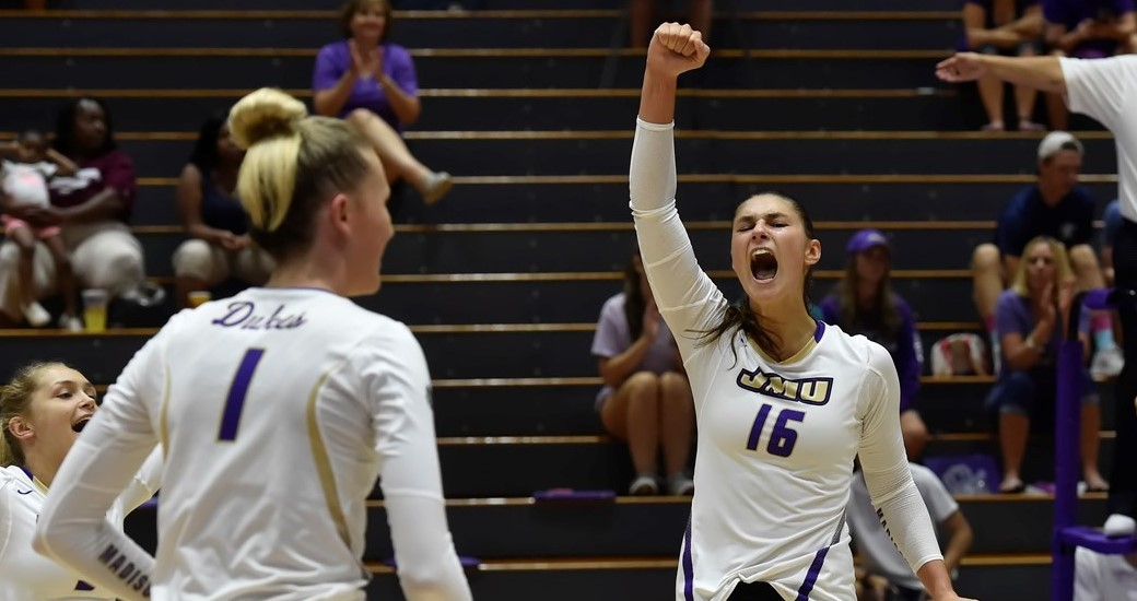 Women's Volleyball: Dukes Open Season With Sweep Of North Carolina Central