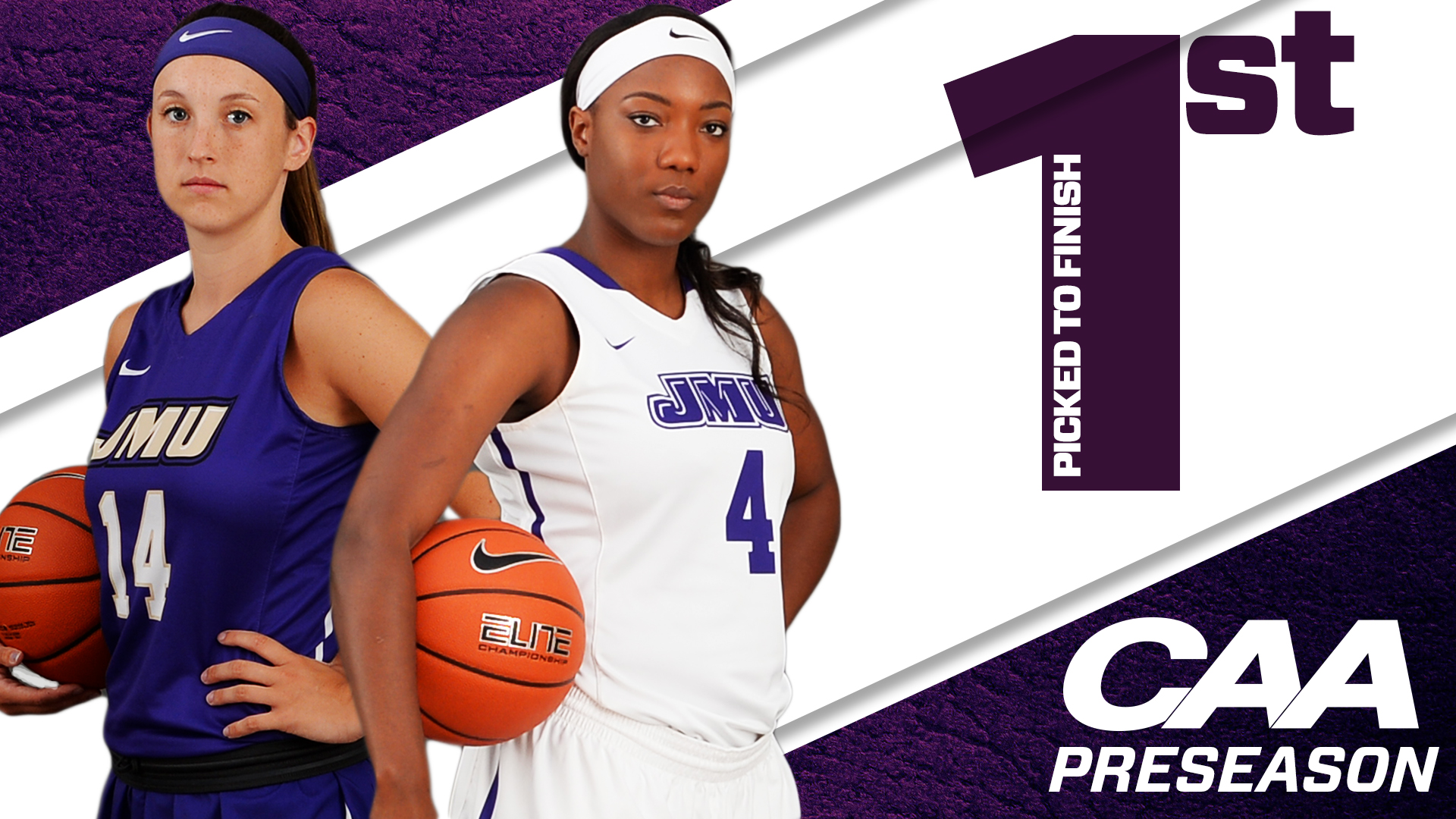 Women's Basketball: JMU Picked to Win CAA, Three Dukes Earn Preseason Honors)