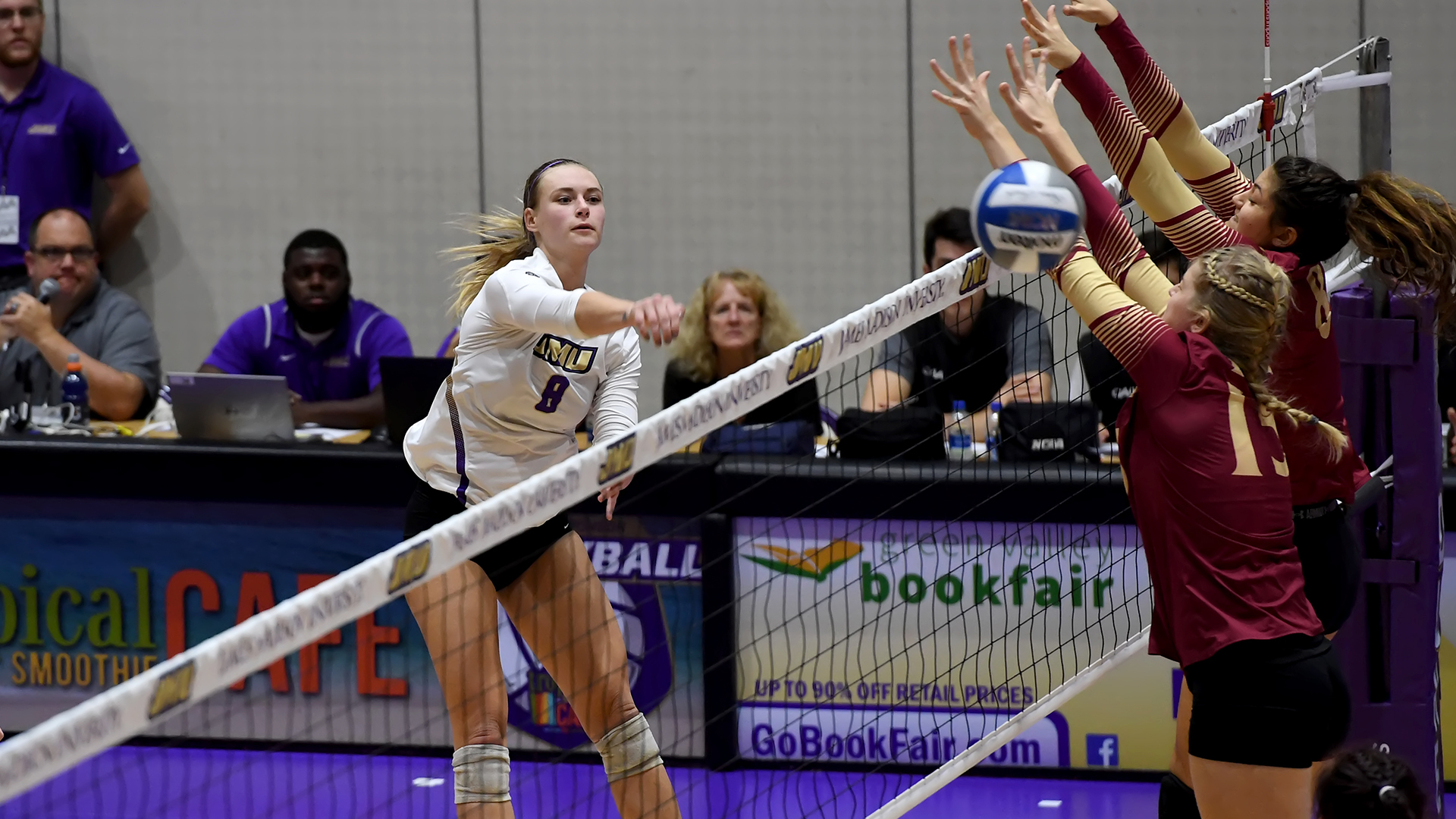 Women's Volleyball: Dukes Advance to CAA Semifinals with 3-2 Win Over Elon)