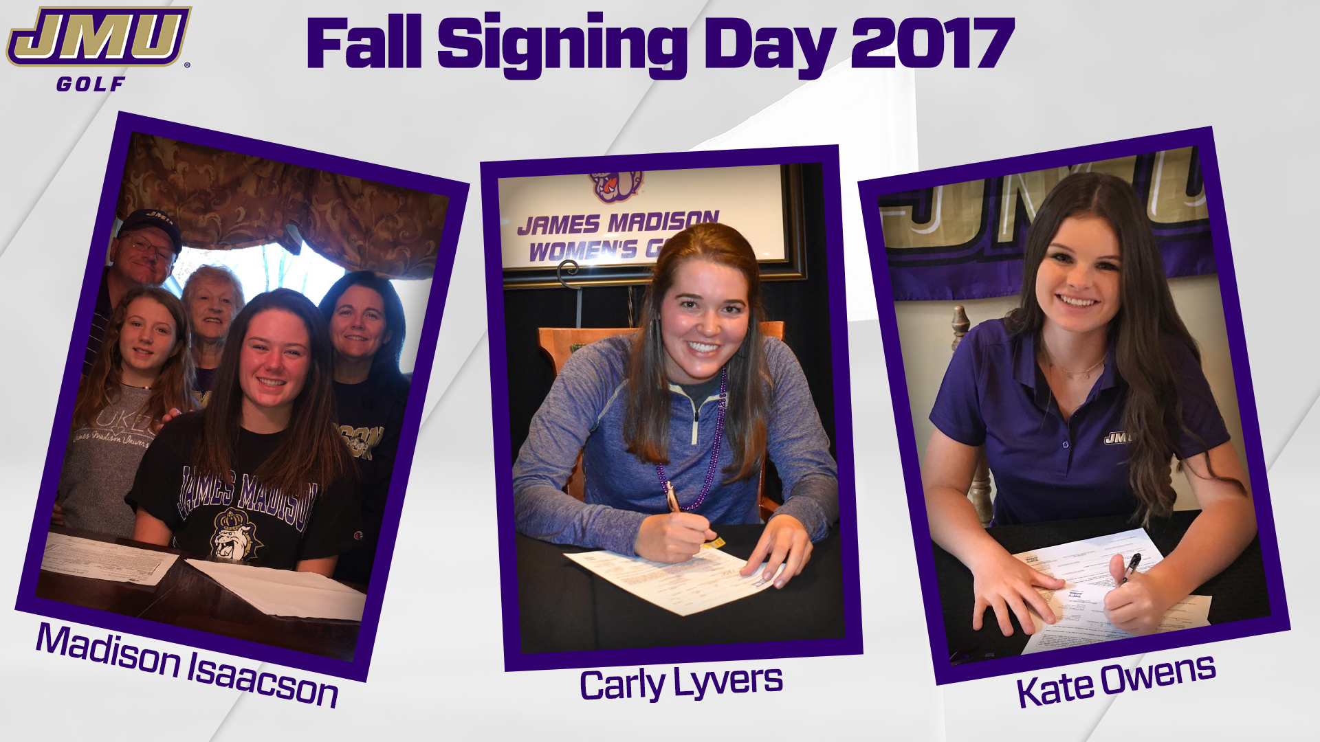 Women's Golf: Women's Golf Inks Three in Early Signing Period)