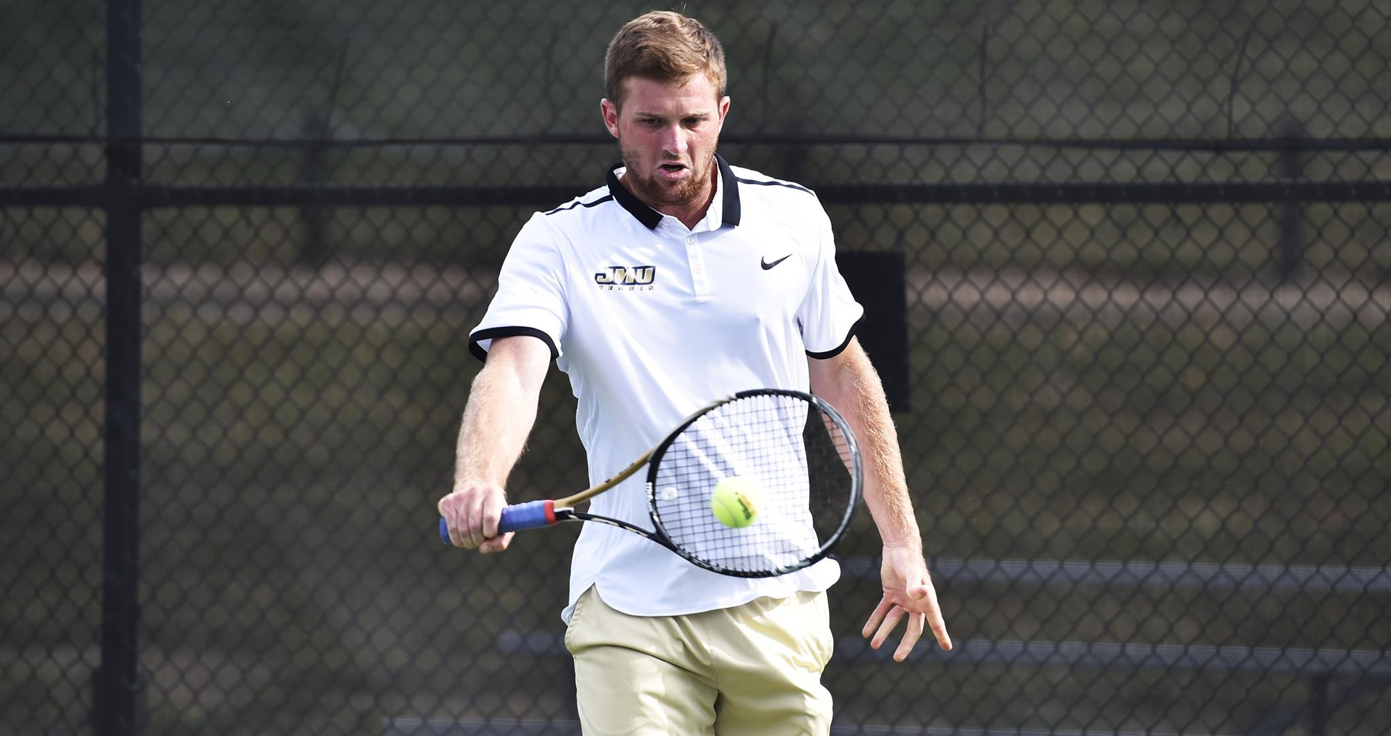 Men's Tennis: Doubles Proves the Difference in JMU's 4-3 Loss at Elon)