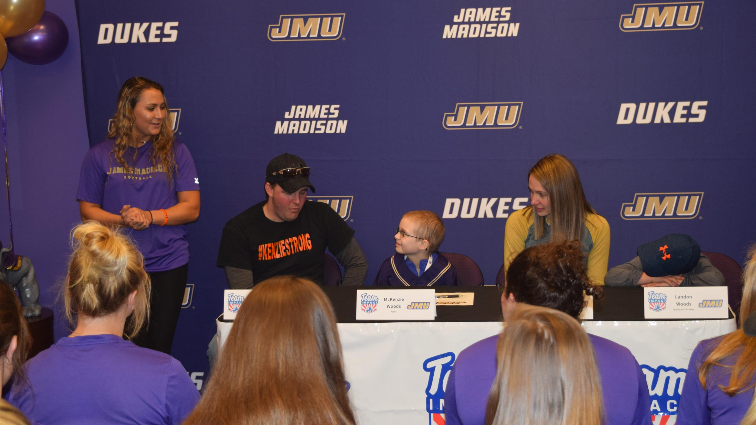 Softball, Community Relations: Softball Partners with Team IMPACT to Sign McKenzie Woods to National Letter of Intent)