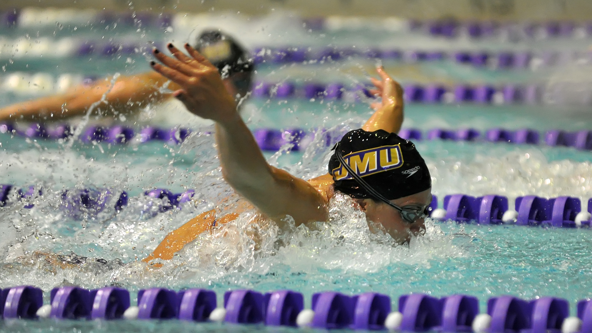 Women's Swimming and Diving: Dukes Remain on Top of CAA Championships Standings Heading into Saturday's Finale)