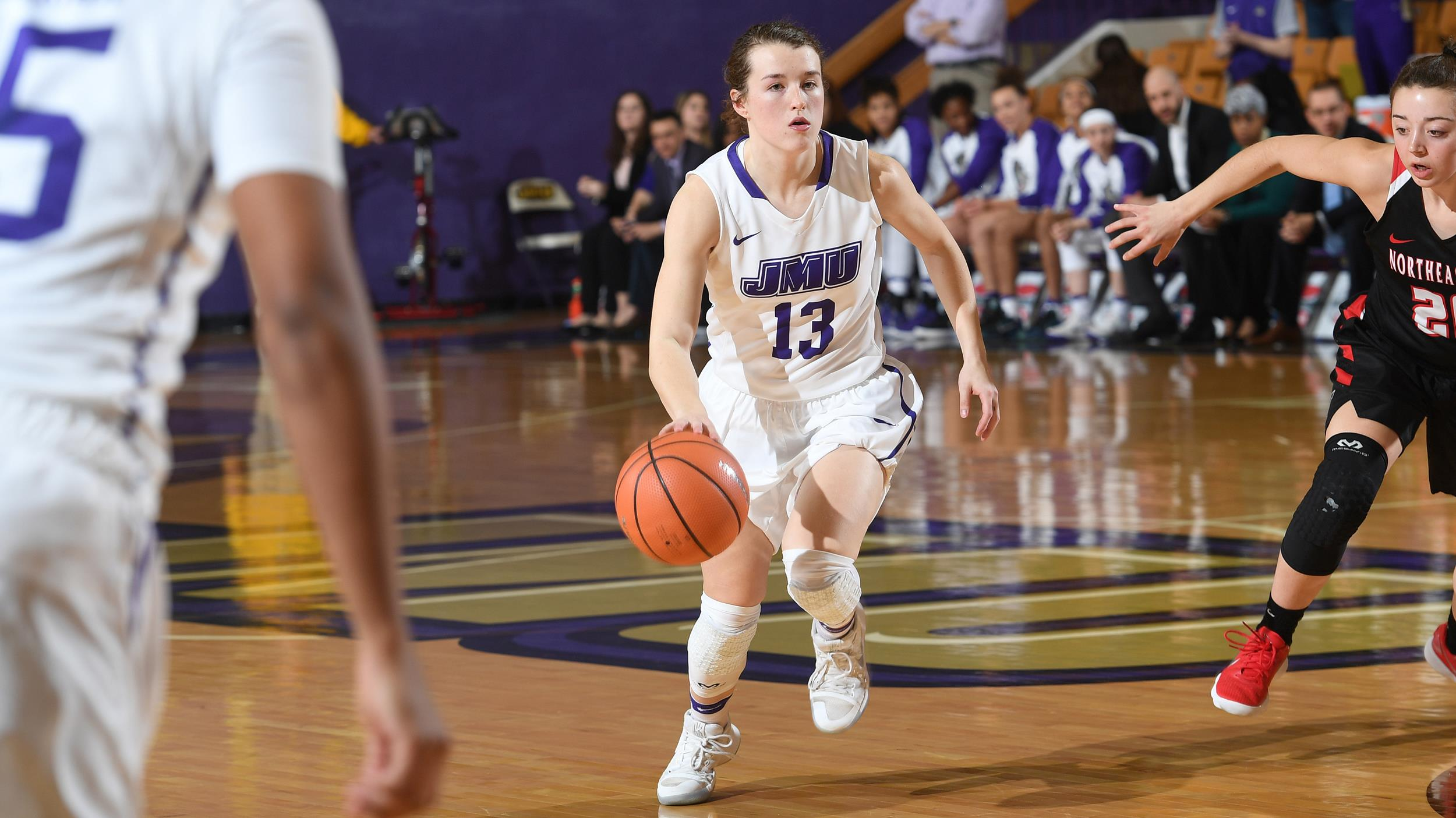 Women's Basketball: Dukes Fend Off Blue Hens for 56-53 Victory)